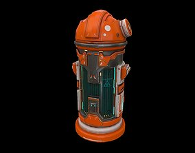 3D asset Low poly sci fi laboratory capsule model
