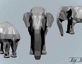Low poly elephant 3D asset