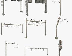 Train Signals 3D model