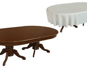 3D model Wood table 2000