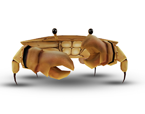 rigged 3D Crab