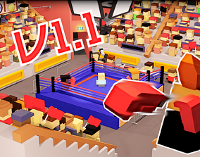 Boxing Low poly pack with animated blocky 3D asset 2