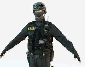 Police Special Force Officer 3D model