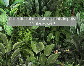 Collection of plants of 20 pieces SET 3 NEW 3D