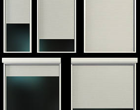 Stained glass windows with shutters 3D model