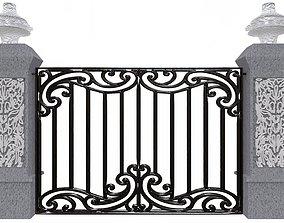 3D asset Exterior Gate architectural DOOR