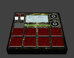 3D model beat machine sampler
