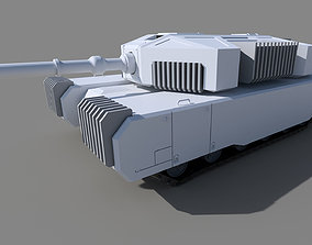 Scifi Tank Base Mesh 3D model