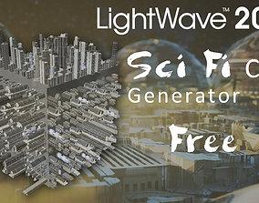 Sci Fi City Generator for LightWave 3D low-poly