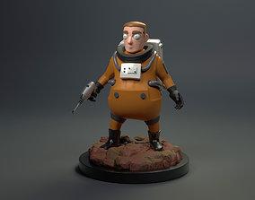 stylize Stylized Cute Astronaut 3D printable model