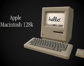3D asset Apple Macintosh 128k retro computer