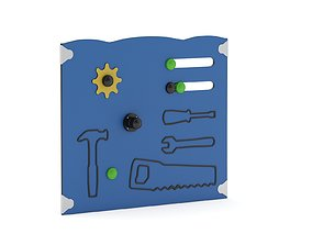 3D model Lappset Masters Tools Activity Panel