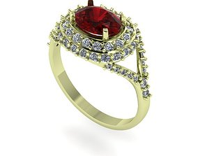Model of a ring with a scree of diamonds