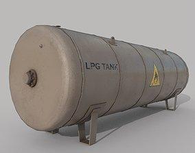 3D model Lpg Storage Tank Old
