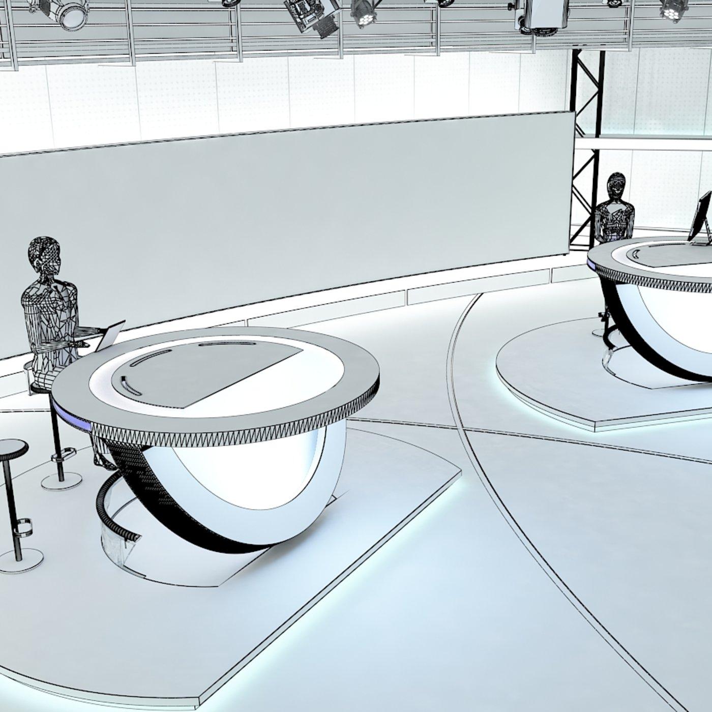 TV Studio News Set 3