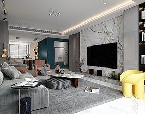 3D asset Living room 02