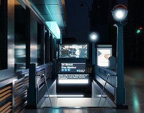 3D New York City Subway - Penn Station Metro