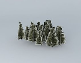 3D model San staircase Bernardino Trees 01