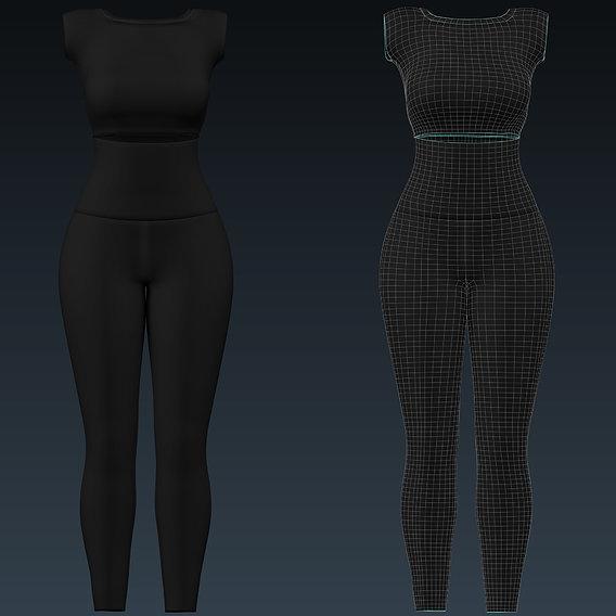 Clothing set 3d mesh