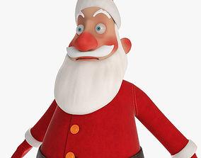 3D model game-ready Santa Claus