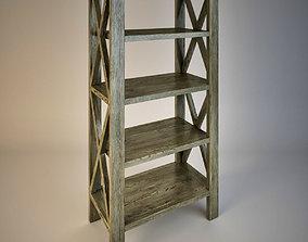 Rustic X Tall Bookshelf 3D model