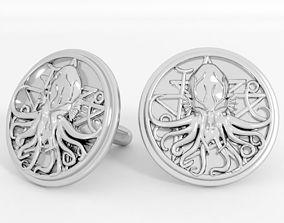 3D print model ancient Cthulhu cufflinks
