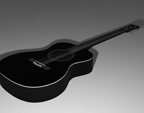 art Guitar 3D asset realtime