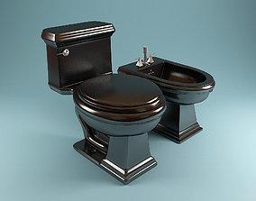 VB Set Toilet Bidet 3D