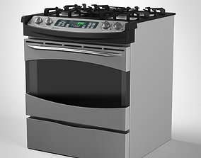 General Electric Gas Range Cooker 3D