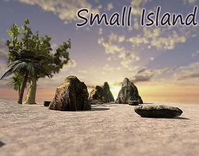 3D asset Small Island