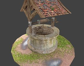 3D model VR / AR ready Old Well Low Polygon