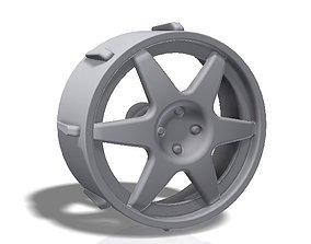 3D print model 6 spokes rim - llanta