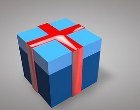 Gift Box Low-poly 3d Modeling game-ready