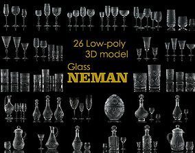 3D Glass NEMAN collection model