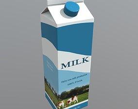 3D model realtime Milk Carton