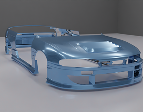 Nissan Silvia S14 Zenki D-Max Type II 2 body kit 3D asset