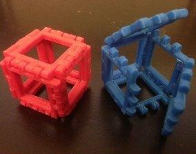 3D printable model Hinge Snap Cube Net