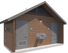 3D model Public Building-003 Restroom