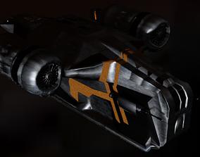 The Mandalorian Razor Crest spaceship 3D model