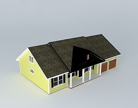small 3D model Colonial House