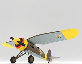 3D model Very simple PZL P11c Romanian Air Force