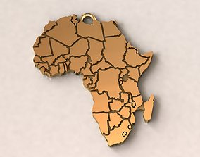 Africa Charm Pendant 3D print model