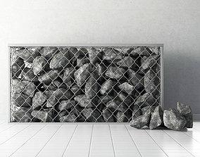 Gabion of rock stones 3D
