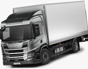 Scania P-series 2018 rigid truck 3D