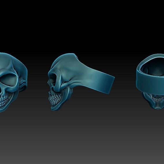 3d print  skull ring