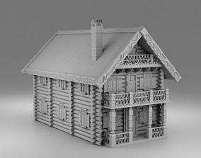 3D printable model Russian house Izba