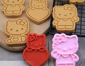 Hello Kitty Cookie Cutters set of 4 3D print model