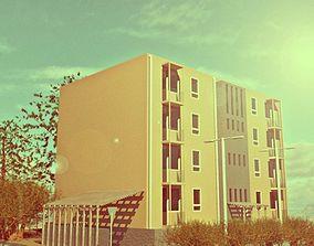 Modern Residential Building 3D model