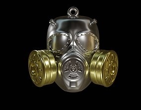 Gas mask nuclear 3D print model