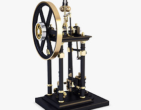 3D model Vertical Steam Engine v 1